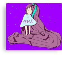 Flow ver. Peace Canvas Print
