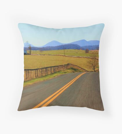 New Country SideTo Explore Throw Pillow
