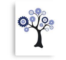 Gear Tree Canvas Print