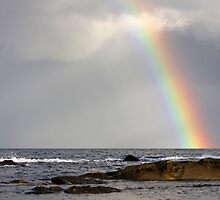 Least Expected rainbow Mayne Island  by TerrillWelch