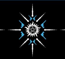 Supernaturally Happy Holidays (Blue Background) Sticker