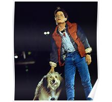 Einstein and Marty McFly - Life changing event  Poster