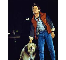 Einstein and Marty McFly - Life changing event  Photographic Print