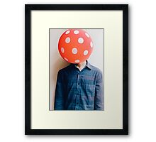 balloon head Framed Print