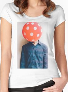 balloon head Women's Fitted Scoop T-Shirt