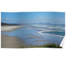 Winter views of Te Arai Surf Beach Poster