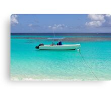 Boat in the Caribbean. Canvas Print