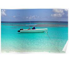 Boat in the Caribbean. Poster