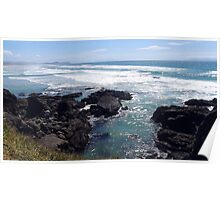 Blue lagoon at Te Arai Surf Beach Poster