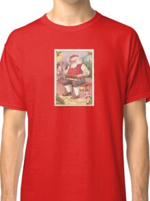 A Vintage Merry Christmas Santa Claus in his Workshop Classic T-Shirt