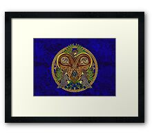 Celtic Heart with Angels and Birds Framed Print