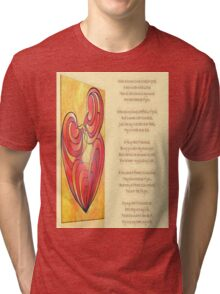 A Canvas Of My Love, My Heart, My Wife Greeting Card Tri-blend T-Shirt
