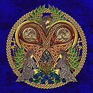 Celtic Heart with Angels and Birds by chromedreaming