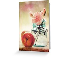 Apples and Roses Greeting Card