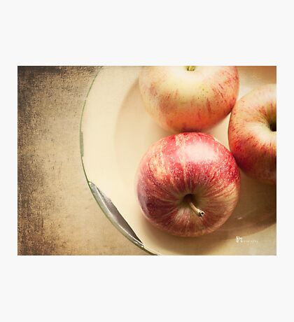 Three Red Apples Photographic Print