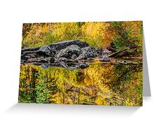 Tumwater Canyon Reflections Greeting Card