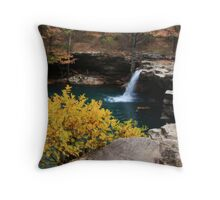 Falling Water Falls Throw Pillow