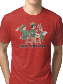 Bobs Burgers Christmas Tri-blend T-Shirt