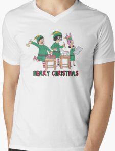 Bobs Burgers Christmas Mens V-Neck T-Shirt