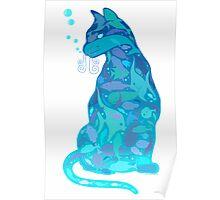 SWIM IN A CAT Poster