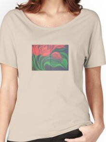 Red Tulip Diptych Women's Relaxed Fit T-Shirt