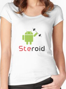 Steroid Women's Fitted Scoop T-Shirt