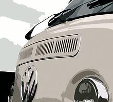 White VW Bay iPhone Case by Joe Stallard