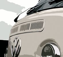 White VW Bay iPhone Case by Joe Stallard
