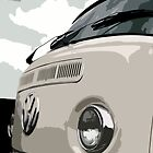 White VW Bay iPad Case by Joe Stallard
