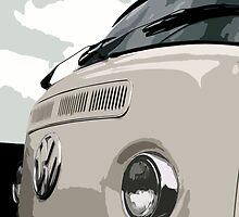White VW Bay iPad Case by Joe Stallard