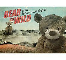 Teddy Bear Grylls Photographic Print