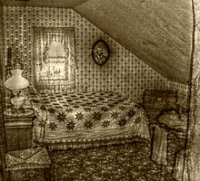 Second Attic Bedroom On the 3rd Floor, Lizzie Borden's Home by Jane Neill-Hancock