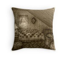 Second Attic Bedroom On the 3rd Floor, Lizzie Borden's Home Throw Pillow