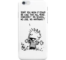 calvin happy iPhone Case/Skin