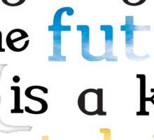 Futuristic Nostalgia Sticker