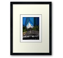 glass house of boats Framed Print