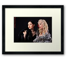 Liss and Katie Framed Print