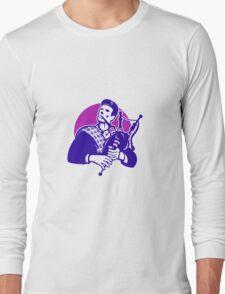Scotsman Scottish Bagpiper Playing Bagpipes Long Sleeve T-Shirt