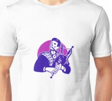 Scotsman Scottish Bagpiper Playing Bagpipes Unisex T-Shirt
