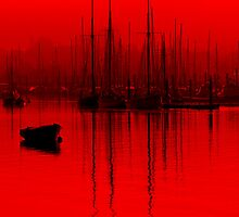 Red tall Masts Brightlingsea by Darren Burroughs