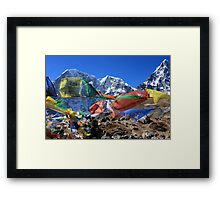 Prayer Flags in the Himalaya - Nepal Framed Print