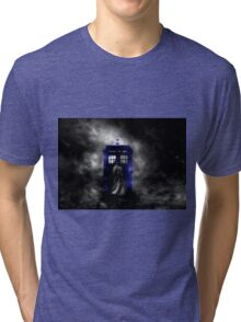 The Doctor and his blue box Tri-blend T-Shirt