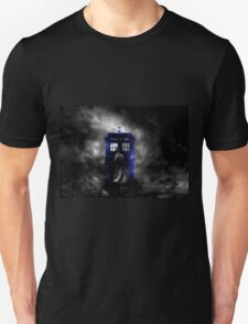 The Doctor and his blue box Unisex T-Shirt