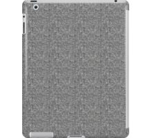 Gray and Tan Fabric iPad Case/Skin