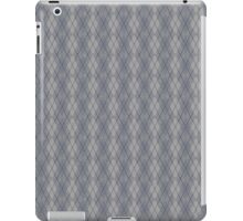 Gray and Blue Argyle iPad Case/Skin
