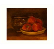Apples from our garden Art Print