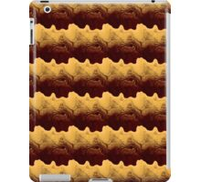 Gold Waves With Red iPad Case/Skin
