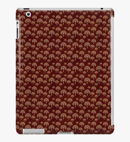 Gold and White Trees on Grunge Red iPad Case/Skin