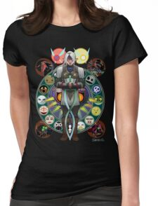 Art Nouveau Fierce Deity Link Womens Fitted T-Shirt