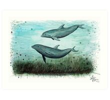 Two Inshore Dolphins Art Print